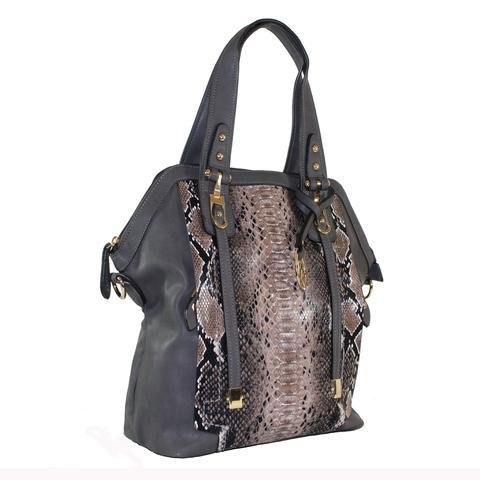 "Michael Michelle ""Sadie"" Snake Skin Shoulder Bag - lithyc.com"