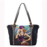 Michael Michelle 'Lizzy' Black Tote Bag For Women