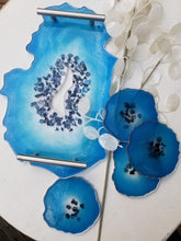 Load image into Gallery viewer, Geode Decorative Tray and Coaster Set *MADE TO ORDER*