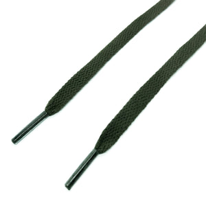 Flat Army Green Shoelaces