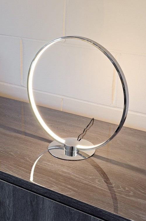 LED Chrome Ring Table Lamp