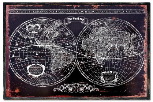 World Map Wall Art Picture