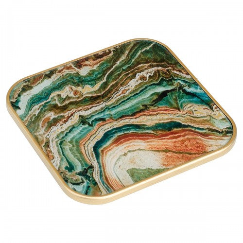 Square Lava Design Coasters - Set of 4
