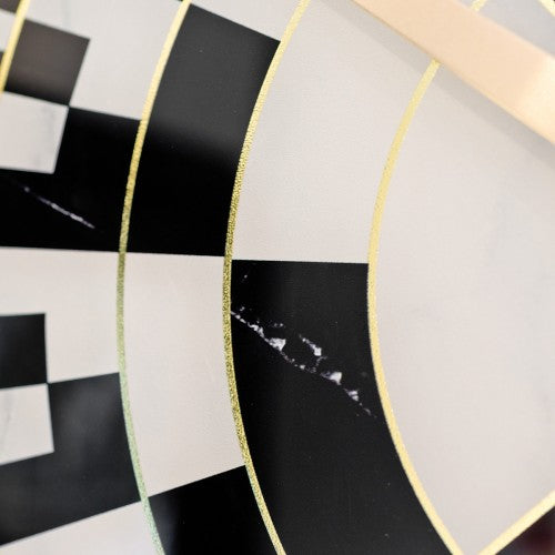 Chequer Style Clock