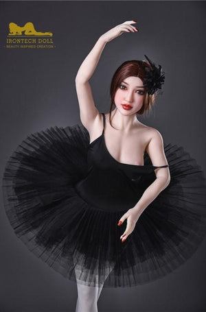 150cm Asian ballerina with small breasts, slim, flexible and elegant temperament sex doll Mika - lovedollshops.com