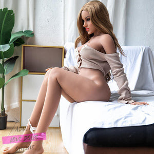 158cm Asian Big Breasts Brown Hair Curvy Slim Sex Doll Quxuan - lovedollshops.com