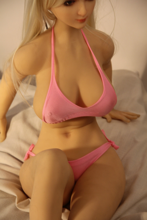 QITA 100cm F cup huge breast pink mini sex doll Vanora