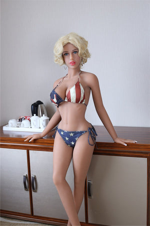 AF 158cm wheat color blonde short hair sex doll Brenda - lovedollshop