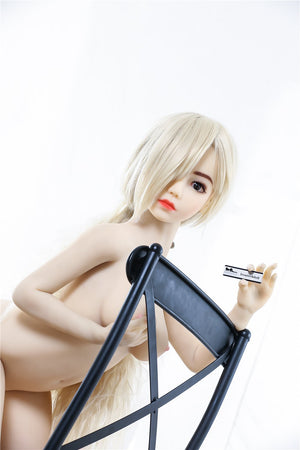 Irontech 132cm flat chested wreath sex doll Elina - lovedollshop