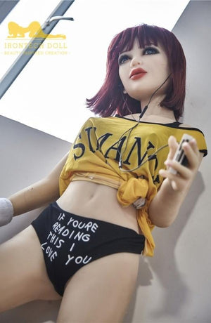 Irontech 145cm big breasts red hair slim and rebellious sex doll-Qualy - lovedollshops.com