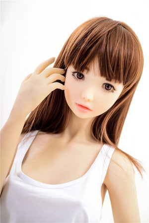 Irontech 145cm brown small sex doll Viveka - lovedollshop