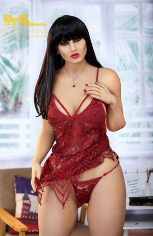 Irontech156cm big breast sexy mature black long hair sex doll Yael - lovedollshops.com