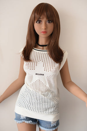Yuqu 150cm A cup flat chest petite wheat skin slim sex doll -Minhe - lovedollshops.com