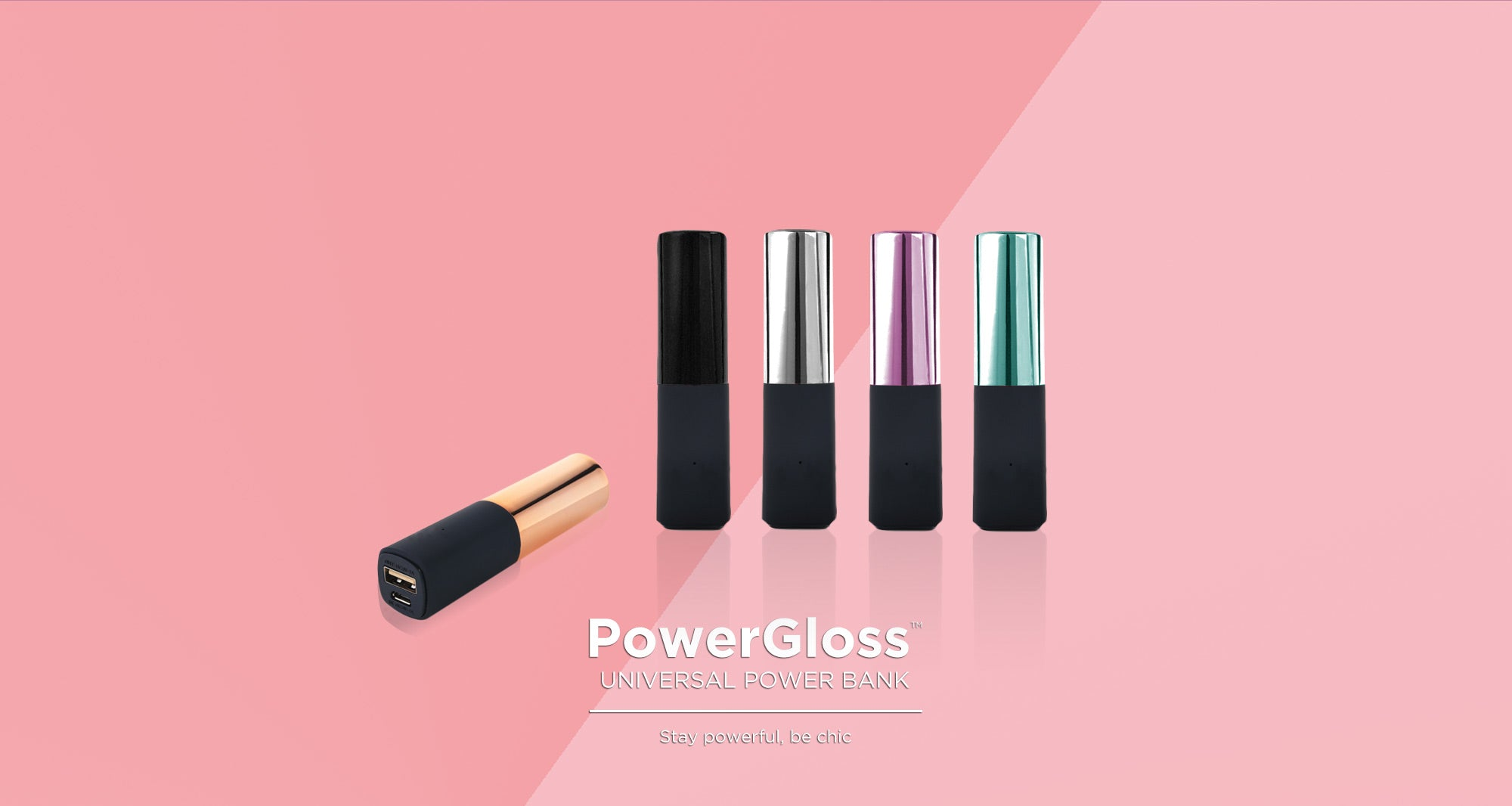 Power Bank, lip gloss, power gloss