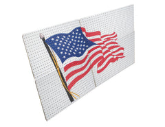 American Flag Metal Pegboard Panels