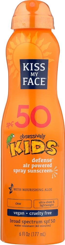 KISS MY FACE: Kids Defense Air Powered Sunscreen Spray SPF 50, 6 oz