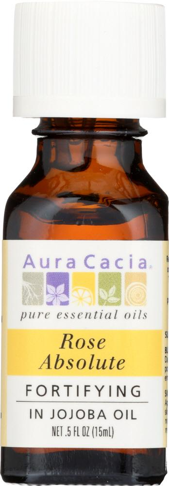 AURA CACIA: Rose Absolute in Jojoba Oil, 0.5 oz