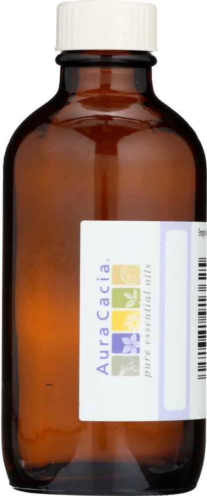 AURA CACIA: Amber Bottle with Writable Label, 4 oz