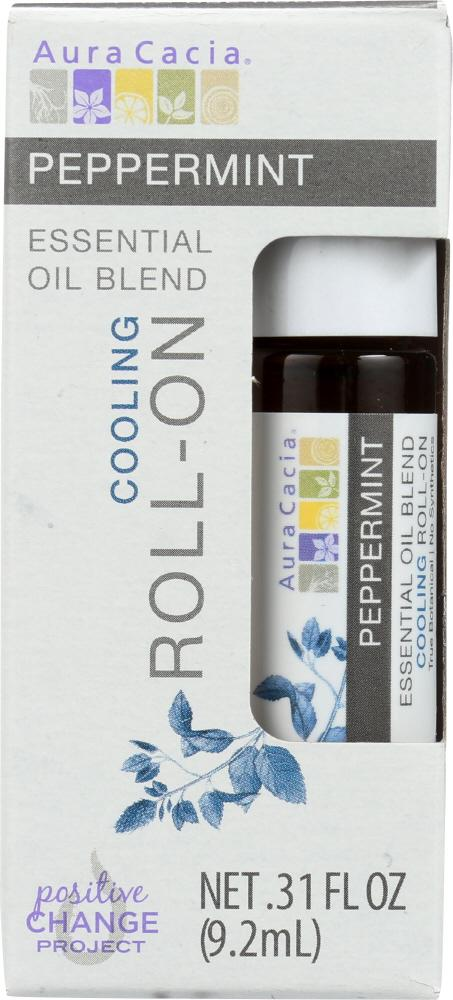 AURA CACIA: Oil Essential Roll-on Peppermint 0.31 oz