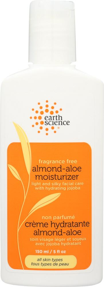 EARTH SCIENCE: Moisturizer Almond-Aloe Fragrance Free, 5 oz