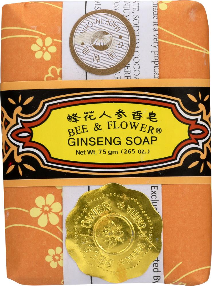 BEE & FLOWER: Ginseng Bar Soap, 2.65 oz