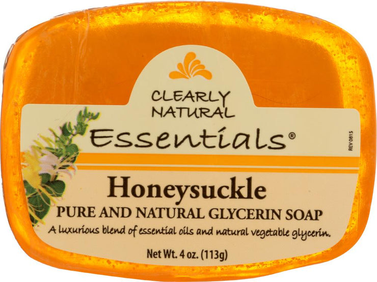 CLEARLY NATURAL: Honeysuckle Pure And Natural Glycerine Soap, 4 oz