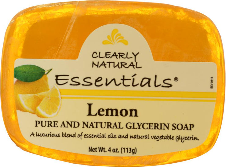 CLEARLY NATURAL: Lemon Pure And Natural Glycerine Soap, 4 oz