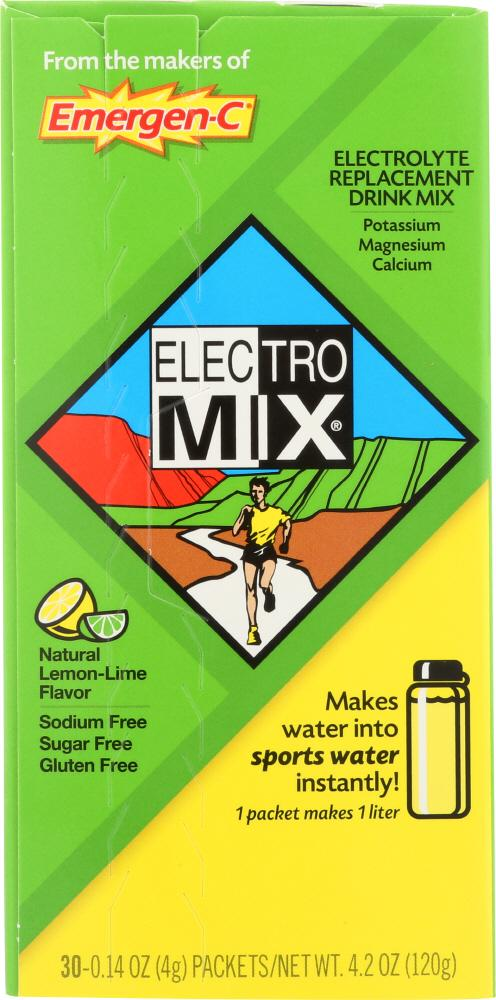 ALACER: Electro Mix Lemon-Lime 30 packets, 0.14 oz (4 g) each