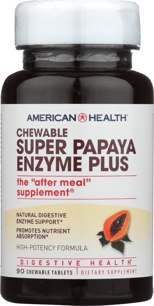 AMERICAN HEALTH: Chewable Super Papaya Enzyme Plus, 90 Tablets