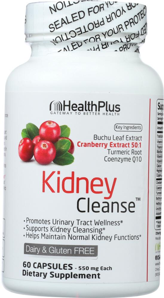 HEALTH PLUS: Kidney Cleanse Body Cleansing System, 60 capsules