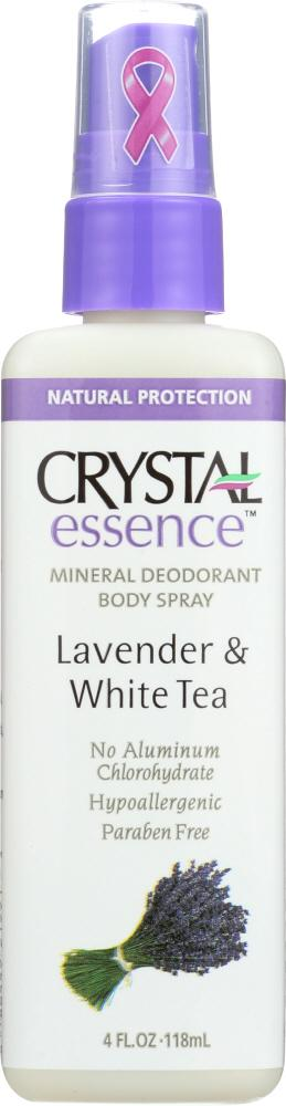 CRYSTAL BODY DEODORANT: Body Spray Lavender & White Tea, 4 oz