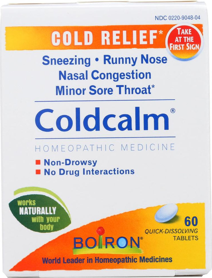 BOIRON: Coldcalm Homeopathic Cold Medicine, 60 Tablets