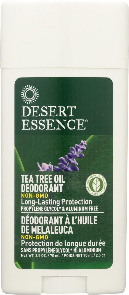 DESERT ESSENCE: Tea Tree Oil Deodorant with Lavender Oil, 2.5 oz