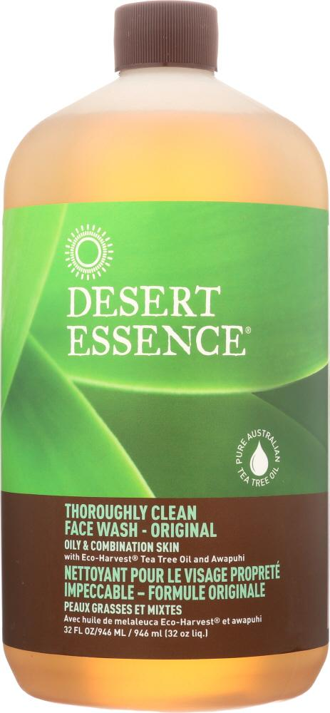 DESERT ESSENCE: Thoroughly Clean Face Wash, 32 oz