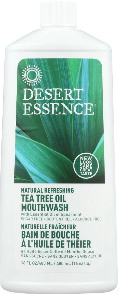 DESERT ESSENCE: Tea Tree Oil Mouthwash, 16 oz