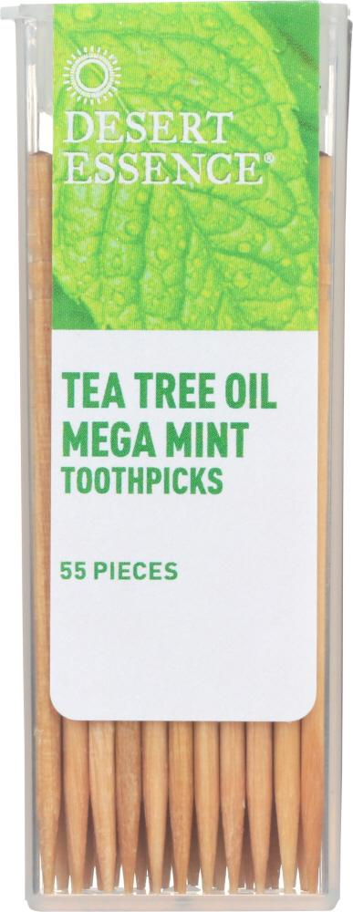 DESERT ESSENCE: Tea Tree Oil Mega Mint Toothpicks, 1 ea