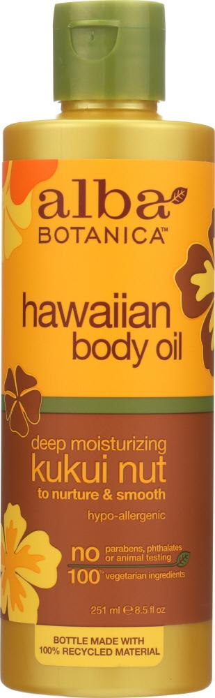ALBA BOTANICA: Hawaiian Body Oil Kukui Nut, 8.5 oz