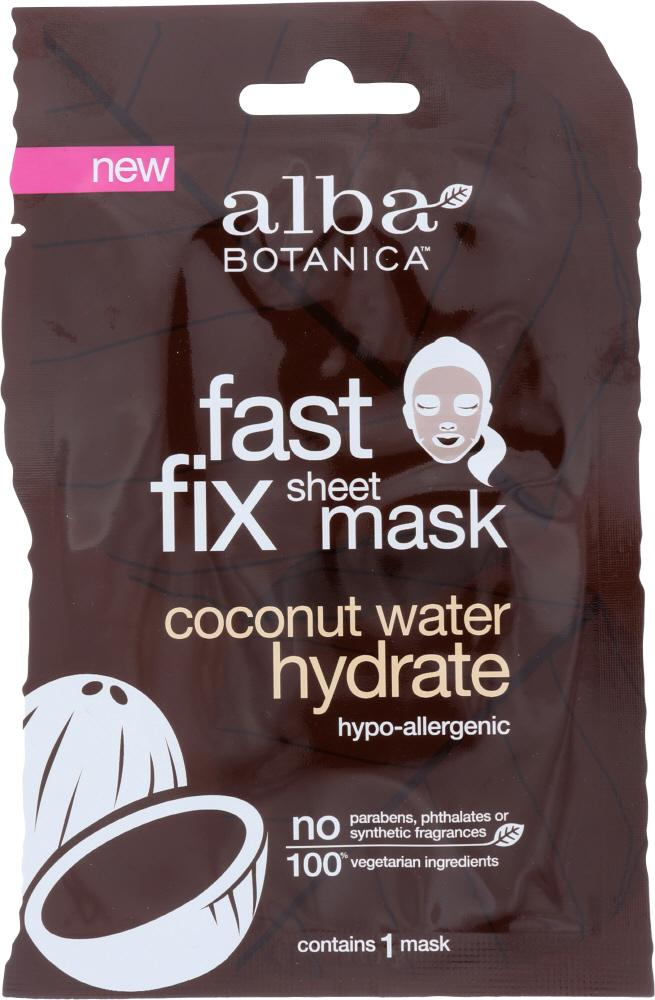 ALBA BOTANICA: Mask Hydrate Coconut Water Fast Fix Sheet Mask, 1 ea