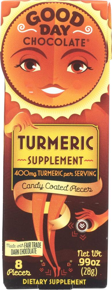 GOOD DAY CHOCOLATE: SUPPLEMENT TURMERIC CHOCOLATE (0.990 OZ)