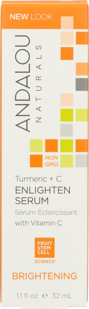 ANDALOU NATURALS: Turmeric + C Enlighten Serum Brightening, 1.1 Oz