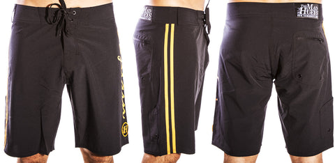 Captain Script Boardshort Black
