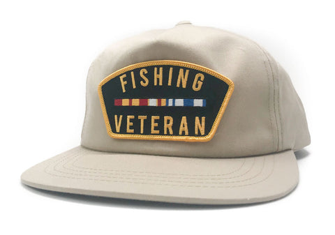 Fishing Veteran Unstructured Tan Hat