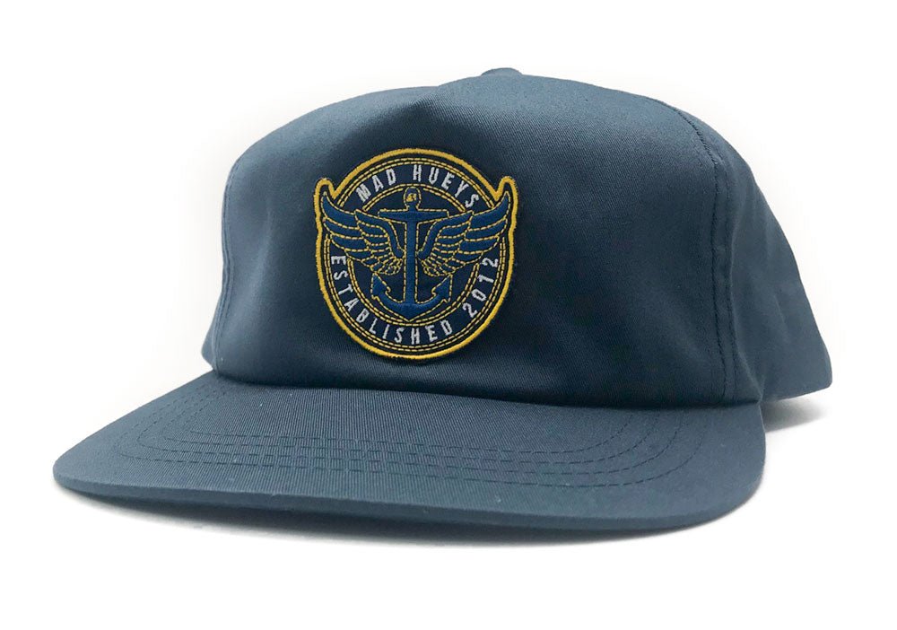923abd21244 Winged Anchor Unstructured Navy Hat – The Mad Hueys USA