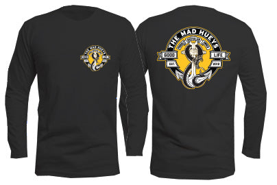 Snake and Anchors Long Sleeve Black