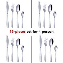 Load image into Gallery viewer, 24pcs Stainless Steel Tableware Western Cutlery Set