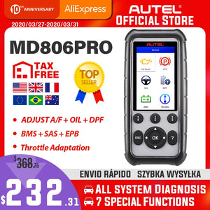 Autel MaxiDiag MD806 Pro OBD2 Scanner Car Automotive Diagnostic Tool