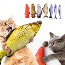 Load image into Gallery viewer, Pet Soft Plush 3D Fish Shape Cat Toy