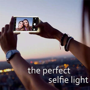 Luxury LED Light Up Selfie Shockproof Case for iPhone