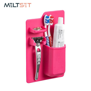 Bathroom Shelves Organizer Toothbrush Toothpaste Shaver Storage Holder