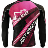 Training Mask Just Breathe ® Pink Long Sleeve Compression Shirt